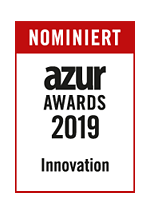 Logo Nominiert azur Awards 2019 Innovation