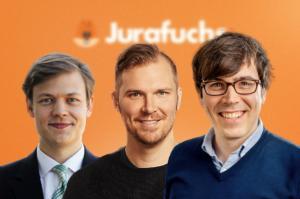 Die Jurafuchs-Gründer: Carl-Wendelin Neubert, Steffen Schebesta und Christian Leupold-Wendling (v. l.)